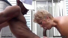 Backyard Cougar Tracy Licks Gets Tamed By the Bandit!!