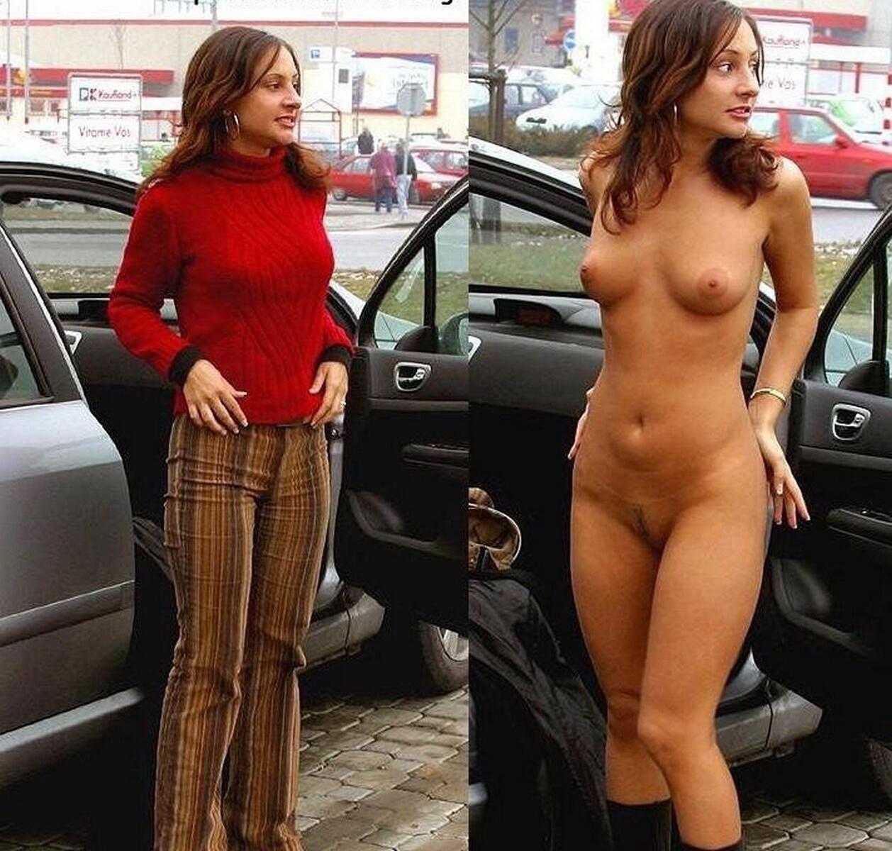 Раздетая жена на улице 5 фотография