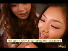 Akiho Yoshizawa naughty Chinese model has a lesbian foursome