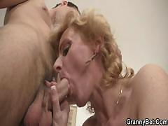Young Guy Picks Up Old Blonde And Fucks Her Pussy Hard