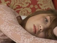 petite-22yo-girl-teasing-herself-on-bed