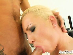 This Blonde With A Big Ass Gets Ass Fucked Hard. She