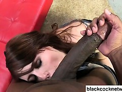 brunette-sucking-huge-black-cock