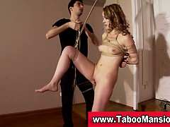 Watch This Hot Blonde Hoe Get Dominated And Tied Up In Hi