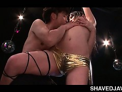Boob Flashing Japanese Pole Dancer Teasing Dick In A Sex Bar