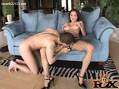 Renae Cruz is a dirty slut! The lusty Latina is decked out