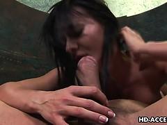 Sandra Romain shows off her mad sucking skills