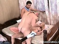 Blonde Slut Enjoys In Double Penetration