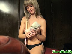 Picked Up Teen Playing Pool Topless