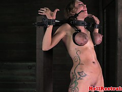 tit-penalized-ball-gagged-bdsm-sub-punished