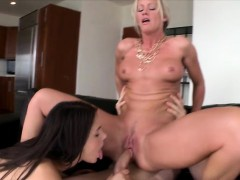 Babe And Milf Gets Assfucked By Big Dick