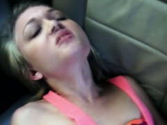 hitchhiking-blonde-drilled-in-the-car