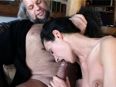 bitch minx suck and fuck an old cock