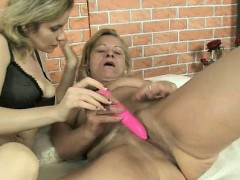 Nasty Old Woman Gets Her Cunt Dildo Part1