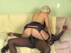 Coco Velvett In Sexy Stocking Enjoys Big Black Cock