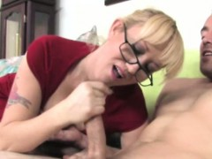 hj-loving-milf-with-spex-tugs-cock-pov