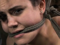gagged-hogtied-sub-gets-bastinado