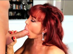 cute vanessa gets on her knees to blow christian