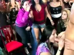 horny amateur party babes suck cfnm stripper