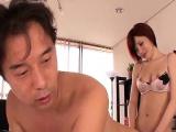 Subtitled Japanese futanari office anal sex and handjob