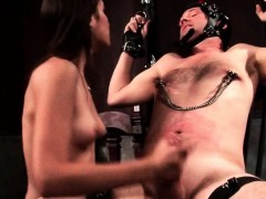 Male Sex Slave Gets Dick Tugged And Tortured