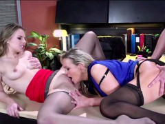 Horny Stepmom And Stepdaughter Gets Anal