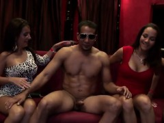 lusty-ladies-help-each-other-out-sucking-hung-dude