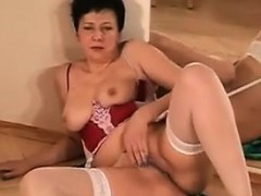 granny-in-lingerie-strips-and-rubs-pussy