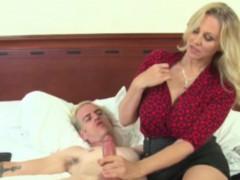 classy-handjob-milf-gets-cumshot-on-her-boobs