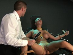 strapped-in-gyno-chair-blonde-slave-toyed