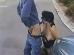 Slut Having Sex Outdoors On And Around A Van