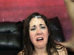 Wet Girl Facial Cumpilation