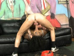 black-amateur-ghetto-tramp-choking-on-a-white-dick
