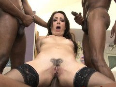 Slutty Marley Blaze Pussy And Ass Fucked By Big Black Boners