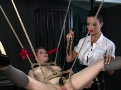 hairy-pussy-slave-gets-inflatable-toy