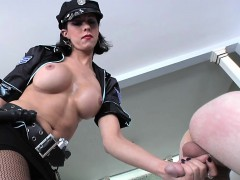 Shemale Cop Spanking Tattooed Bloke