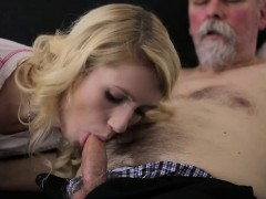 Old Goes Youthful – Sexy Helena blows old goes youthful fellow