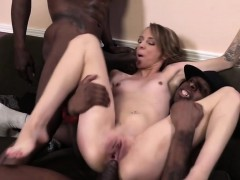 Beckie Lynn Debuts On Cam With An Interracial Gang Bang