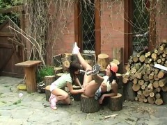 cutting-wood-and-eating-pussy