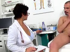 dirty-czech-cougar-gabina-is-naughty-doctor-in-cfnm-action