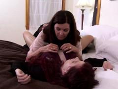 Redhead Tranny Gets Her Pierced Nipple Sucked