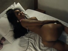 Hot Body Ladyboy Babe With Big Tits Gives A Chained Blowjob