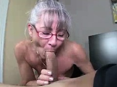 mom litterally salivates to the young hard penis