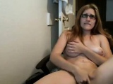 Horny Chick With Glasses Masturbates