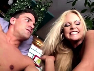 Filthy blonde hotties moan like whores with dp