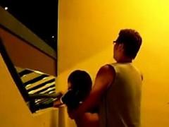 Asiansexporno.com Singapore Couple Staircase Quick Sex