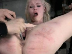 bound slut gets sexy wax and squirts!
