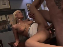 Blonde Babe Gets Slammed By Her Coworker | Porn Bios