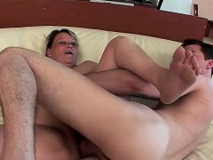 Mature Hairy Pussy Gets A Big Cock
