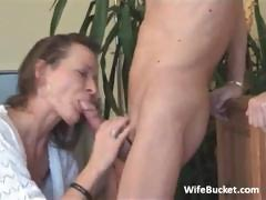 milf wife loves rough blowjob